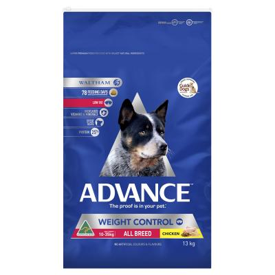 Advance Weight Control Chicken All Breed Adult Dry Dog Food 13kg