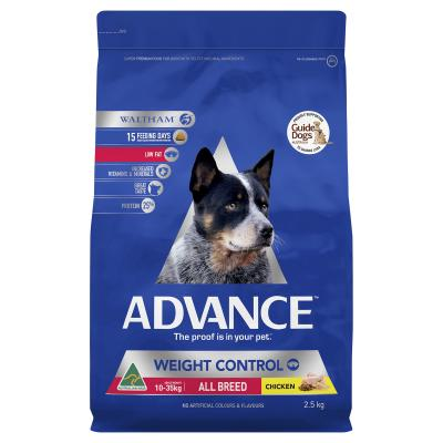 Advance Weight Control Chicken All Breed Adult Dry Dog Food 2.5kg