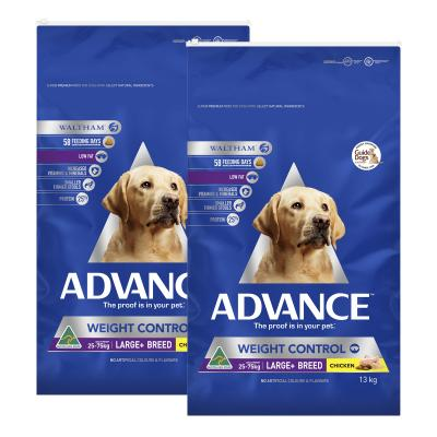 Advance Weight Control Large Breed Chicken Adult Dry Dog Food 26kg