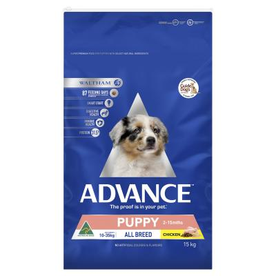 Advance Puppy Plus Growth All Breed Chicken Dry Dog Food 15kg
