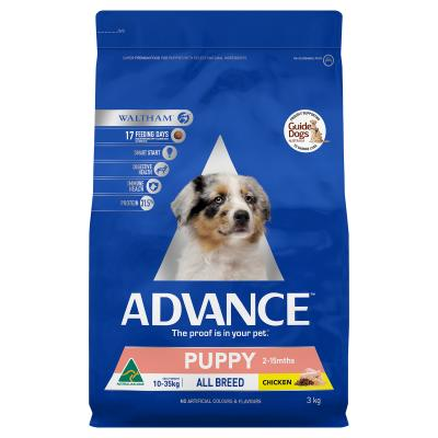 Advance Puppy Plus Growth All Breed Chicken Dry Dog Food 3kg