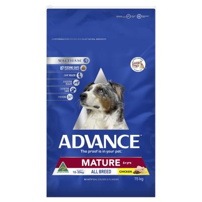 Advance Chicken All Breed Mature 6+ Years Dry Dog Food 15kg