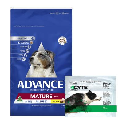 4CYTE Canine Joint Support For Dogs 50gm With Advance All Breed Mature Chicken Dry Dog Food 15kg