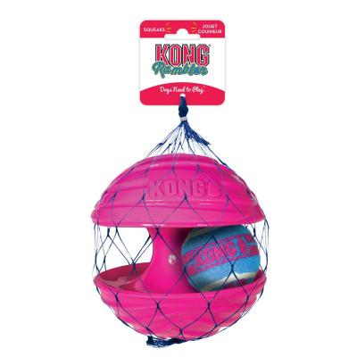 KONG Rambler Rubber Squeak Ball Small Toy For Dogs