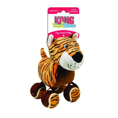 KONG TenniShoes Tiger Plush Squeak Large Toy For Dogs