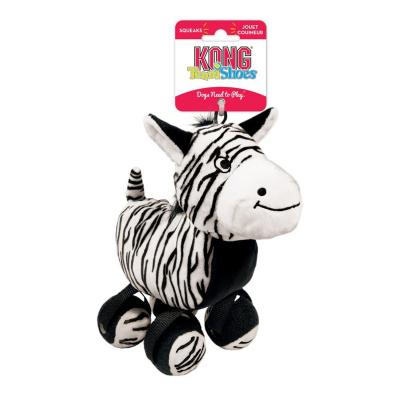 KONG TenniShoes Zebra Plush Squeak Large Toy For Dogs