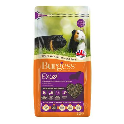 Burgess Excel Nuggets With Blackcurrant And Oregano Pellet Food For Guinea Pigs 2kg