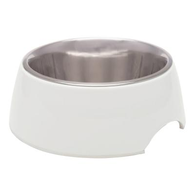 Loving Pets Retro Bowl Non Skid Stainless Steel Ice White Large For Dogs 1.6L