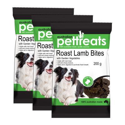Australian Pettreats Bites Roast Lamb With Garden Vegetables Treats For Dogs 600gm