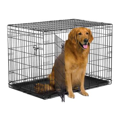 Metal Dog Crate Double Door 42inch