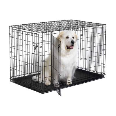 Metal Dog Crate Double Door 48inch