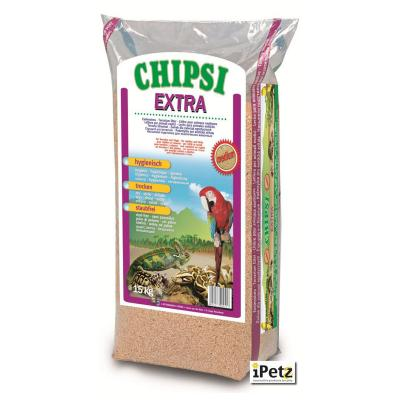 Chipsi Extra Beechwood Bedding Litter Medium For Reptiles Amphibians And Birds 15kg