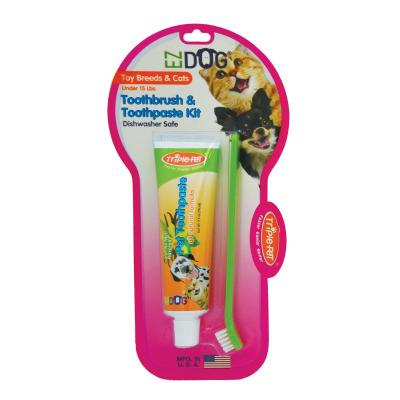 TriplePet EZDOG Dental Kit With Toothbrush And Toothpaste 74mL For Toy/Small Dogs And Cats