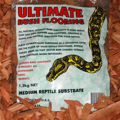 Ultimate Bush Flooring Bark Substrate Bedding For Snakes And Reptiles 1.2kg