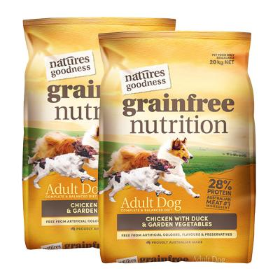 Natures Goodness Grain Free Chicken Duck And Garden Vegetables Dry Dog Food 40kg