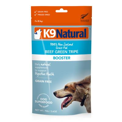 K9 Natural Grain Free Beef Green Tripe Booster Freeze Dried Meat Dog Food 75g