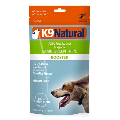 K9 Natural Grain Free Lamb Green Tripe Booster Freeze Dried Meat For Dogs 57g