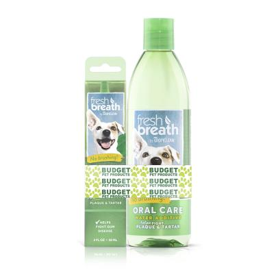 Tropiclean Fresh Breath Clean Teeth Gel And Water Additive Dental Care Pack For Dogs