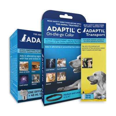 Adaptil Complete Care For Medium And Large Dogs Calm Home Diffuser Set And Spray With On-the-Go Collar 70cm Fits Necks Up To 62.5cm