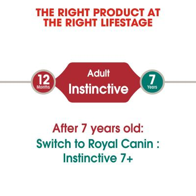 Royal Canin Instinctive In Gravy Adult Pouches Wet Cat Food 85g x 48