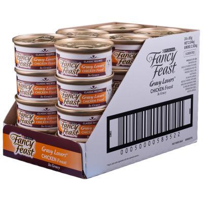 Fancy Feast Chicken Feast in Gravy Adult Canned Wet Cat Food 85g x 24