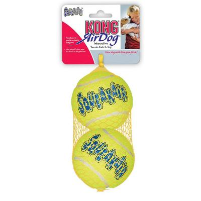 KONG AirDog Squeaker Balls Nonabrasive Felt Large Toy For Dogs 2Pack