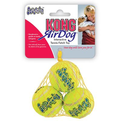 KONG AirDog Squeaker Balls Nonabrasive Felt Small Toy For Dogs 3 Pack