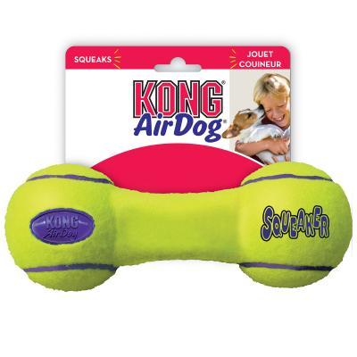 KONG AirDog Squeaker Dumbbell Nonabrasive Felt Small Toy For Dogs