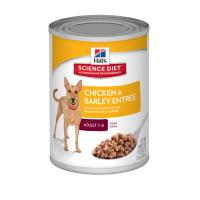 Hills Science Diet Chicken And Barley Entree Adult Canned Wet Dog Food 370gm x 12 (7037)