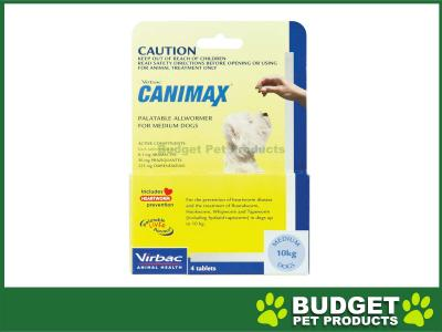 Canimax All Wormer For Medium Dogs 10kg 4 Tabs