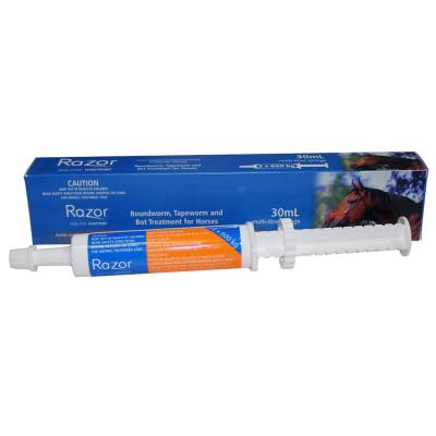 Razor Worming Paste 30ml Single Syringe Wormer For Horses