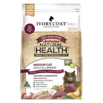 Ivory Coat Natural Health Grain Free Chicken Kangaroo Coconut Oil Indoor Adult Dry Cat Food 3kg