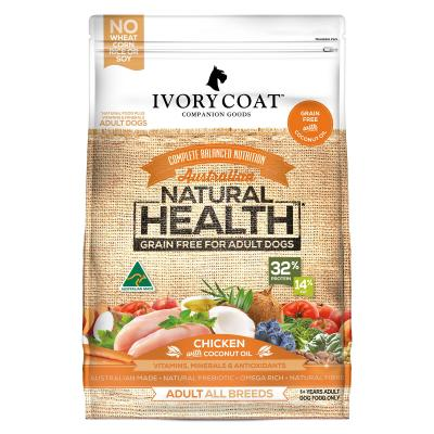 Ivory Coat Natural Health Grain Free Chicken And Coconut Oil Adult Dry Dog Food 13kg