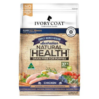 Ivory Coat Natural Health Grain Free Chicken Puppy Dry Dog Food 13kg
