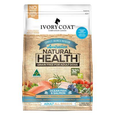 Ivory Coat Natural Health Grain Free Ocean Fish And Salmon Adult Dry Dog Food 2kg