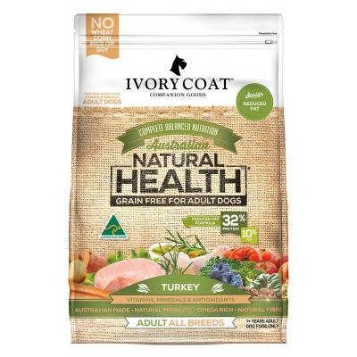 Ivory Coat Natural Health Grain Free Reduced Fat Turkey Adult/Senior Dry Dog Food 2kg