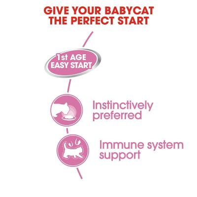 Royal Canin Mother And Babycat First Age Easy Start Soft Mousse For Kittens And Mother Canned Wet Cat Food 195gm x 12