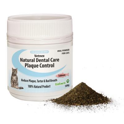 Vetnex Natural Dental Care Powder Salmon Flavour For Cats 100g
