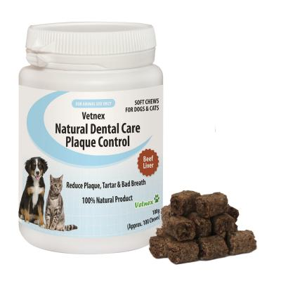 Vetnex Natural Dental Care Soft Chews Beef Liver Flavour For Dogs And Cats 100g