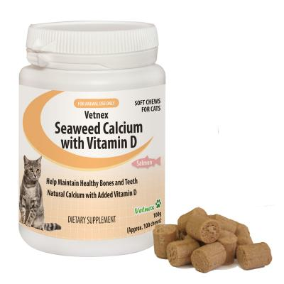 Vetnex Seaweed Calcium With Vitamin D Soft Chews Salmon Flavour For Cats 100gm