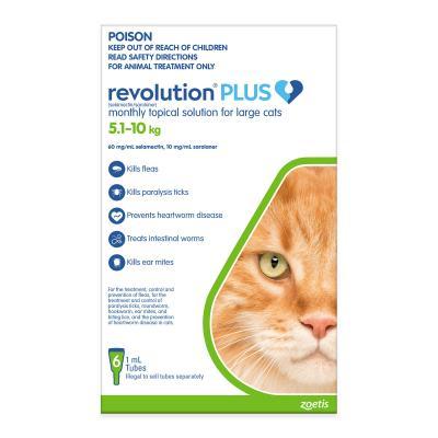 Revolution Plus For Large Cats 5-10kg 6 Pack