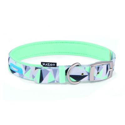Kazoo Funky Nylon Collar Mint Abstract 65cm x 25mm XLarge For Dogs