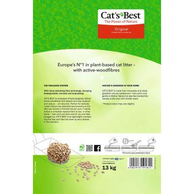 Cats Best Original Plant Fibre Clumping Litter 30L/13kg