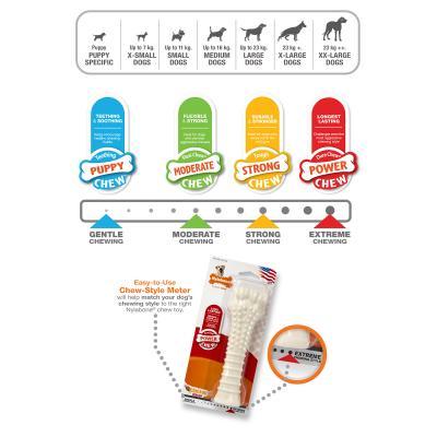 Nylabone Power Dura Chew Big Bone Chicken Souper XLarge Toy For Dogs Over 23kg