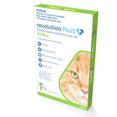Revolution Plus For Large Cats 5-10kg 3 Pack