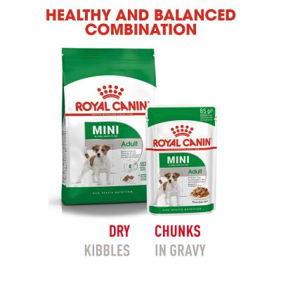 Royal Canin Mini Adult In Sauce Pouches Wet Dog Food 12 x 85g