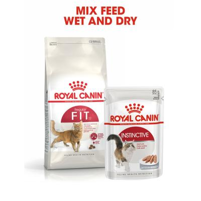 Royal Canin Instinctive In Gravy Adult Pouches Wet Cat Food 85gm x 36