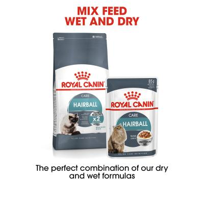 Royal Canin Hairball Care In Gravy Adult Pouches Wet Cat Food 85g x 48
