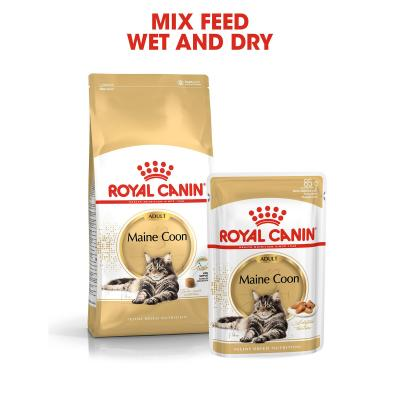 Royal Canin Maine Coon In Gravy Adult Over 15 Months Pouches Wet Cat Food 85gm x 48