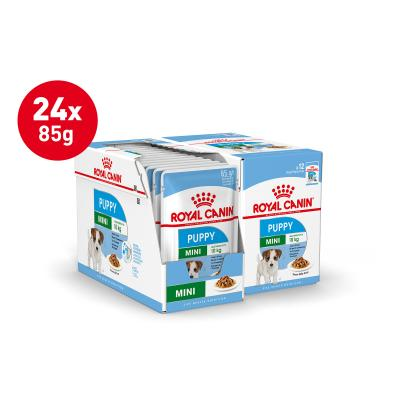 Royal Canin Mini Puppy In Gravy Pouches Wet Dog Food 24 x 85g